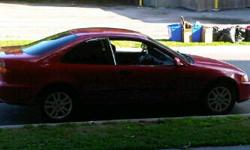 OBO 95 red Honda Civic w/ 2 sets tires on rims