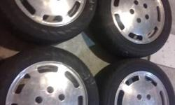 16 inch Porsche Wheels with H & R 5x100 adapters