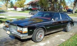 1981 Cadillac Seville Red Leather Seats Sedan