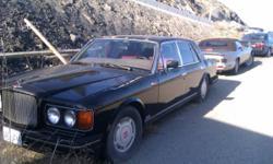1989 Bentley Turbo R Black Sedan/Red Leather Interior