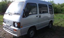 1991 4x4 Subaru Sambar mini van. Right hand drive