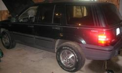 1993 Jeep Grand Cherokee with Plow
