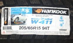2 New HANKOOK IPIKE W411 Snow Tires 205/65/R15 94T Car/Minivan etc
