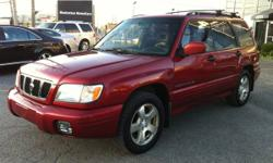 2001 SUBARU FORESTER LIMITED AWD - PANORAMIC SUNROOF / LEATHER