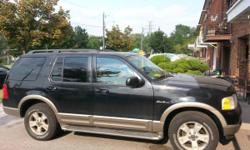2003 Black Ford Explorer Eddie Bauer SUV LOW KMs!!! 4WD 4DR UTL!