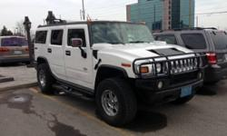 2003 Hummer H2 Leather Roof 3RD Seat, White, loaded 1 Owner