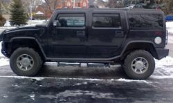 2005 Hummer H2 Black on Black