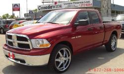 "2010 Dodge Ram | 24"" chrome rims | TRUCK LOANS WINNIPEG bw"