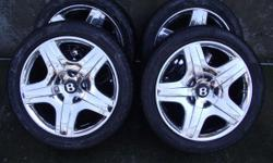 4 19' Bentley Continental GT wheels with Pirelli Pzero Rosso tires