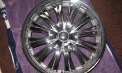 "4 BT Street Chrome 18"" Rims Audi A6 Great Shape"