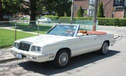 Classic 1982 Chrysler LeBaron Special Edition Convertible 82000miles