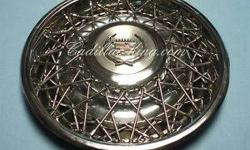 classic cadillac wired hubcaps