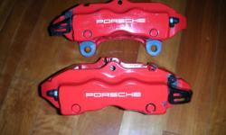 OEM 2003-2010 Porsche Cayenne Turbo Rear Brake Caliper Red