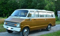 Rare Classic 1974 Dodge Tradesman 200 Camper