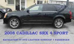 USD  2008 Cadillac SRX 4 AWD NAVI. TV DVD 7 PASSENGER LEATHER SUNROOF