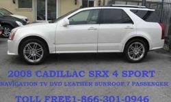 USD  2008 Cadillac SRX 4 AWD NAVI./ TV DVD/ 7 PASSENGER LEATHER