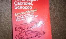 VW Cabrio Scirocco 16V Wolfsburg 1985-1993 Bentley Shop Manual
