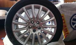VW Volkswagen 17 inch rims/tires set