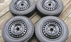 Yokohama Winter Tires - 195/65/R15 - Honda Rims